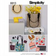 8813 Simplicity Pattern: Bags in Assorted Styles and Sizes